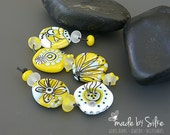 Handmade lampwork beads  set  |  SUMMER   |  artisan glass     |   set    |     made by Silke Buechler