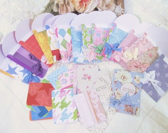 Gift Card Envelopes Holders with ribbons & seals - All Occasion - Set of 15 - Birthday Shower Wedding Gift Card Envelopes Holders