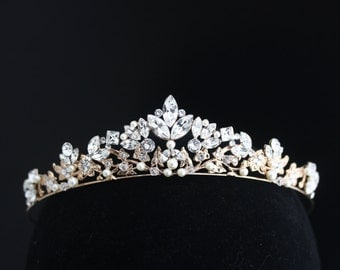 Wedding Crown Rose Gold Bridal Tiara Wedding Tiara Swarovski Crystal Crown Tiara  Wedding Bridal Tiara Headpiece SMALL SIAN TIARA