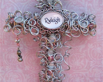 Girl Wall Cross - Baby Cross - Baptism Gift Cross - Christening Cross - Baby Shower Gift - Pink Cross -  Girl Baptism - Girl Christening