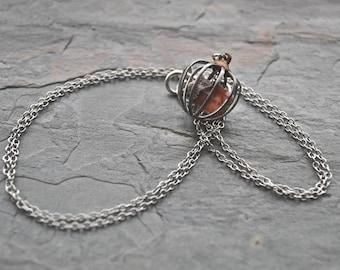 Raw Topaz Necklace November Birthstone Topaz Jewelry