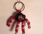 Ohio buckeye football mascot keychain