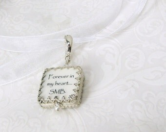 A Gorgeous Photo Charm Wrapped in a Sterling Princess Frame - WBC5P