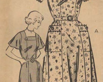 1940s Mail Order 2022 Vintage Sewing Pattern Misses Dress, Afternoon Dress Size 18 Bust 36