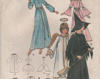 1970s Butterick 4938 Vintage Sewing Pattern  Costume Fairy Godmother, Princess, Angel, Witch Girls Size 6, Misses Size 14 Bust 36