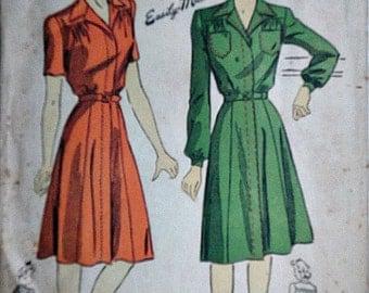 Vintage 1940's Du Barry 5469 Sewing Pattern, Misses' Dress, World War 2 Era, Size 12, 30 Bust