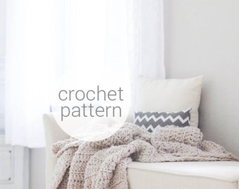 Pattern / Ozetta Crochet Blanket Pattern Instant Download For THE BARROW Blanket