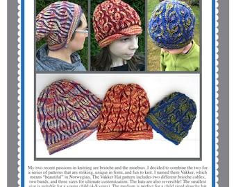 Vakker Brioche Hat Pattern PDF