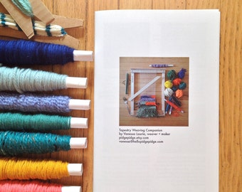 Beginner Tapestry Weaving Workbook | DIY Crafters | Learn to Weave Booklet | Tapestry 101 Loom Instruction | Tapestry Weaving Companion Book
