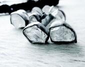 3 DAY SALE Raw crystal studs | Crystal Quartz earrings | Rock quartz post earrings | Quartz studs | Rough crystal quartz earrings
