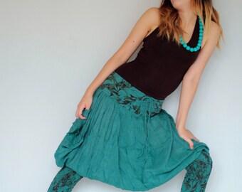 Helena Pants...Mix silk floral colour No.7  (S-L) (427)