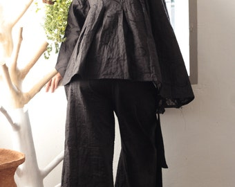 I wonder.... two layer blouse linen lining with cotton one size fit S-M