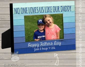 Father's day gift - personalized frame - customize with kiddos names and your own saying if desired