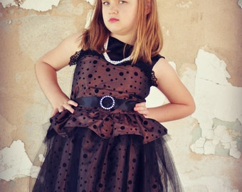Steampunk Flower Girl Dresses -Toddler Party Dress - Little Girl Clothes - Boutique Outfit - Pageant - Party - Weddings - 2T - 10 years