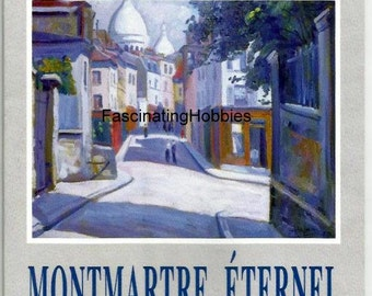 """Paris 1995 - """"MONTMARTRE Eternel"""" - Leaflet cardboard for opening of exhibition in MONTMARTRE Museum - rare mint invitation valid for 1 day"""