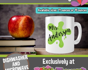 Art Teacher Ceramic Mug - Personalized Coffee Mug for Art Teacher - Teacher Personalized Gift - Gift for Art teacher - Paint Coffee Mug