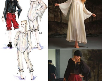Costume Undergarments- Simplicity 2777 Pattern - Medieval Costume Sleeping Dress, Bloomers in 3 lengths and Top- US sizes: 6-12 or 14 -22