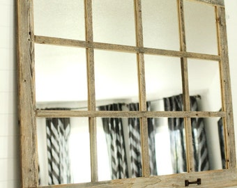 farmhouse mirror 12 pane - My Barnwood Frames