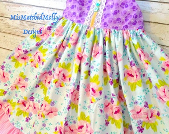 Lovely Lilac Hummingbird Twirl Dress Custom 12m to sz 8