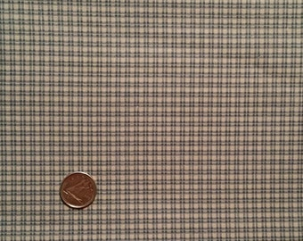 BL024 ~ Blue fabric Blue and cream checked fabric Plaid fabric Quilting fabric Pillows Quilts
