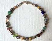 Reserved for Debbie - Silver Treasure Beaded Bracelet
