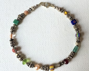 Silver Treasure Beaded Bracelet