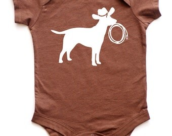 Get Along Doggy Baby Bodysuit - Western Baby