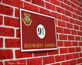 Platform 9 3/4 Printable Sign - INSTANT DOWNLOAD - Hogwarts Express, Harry Potter, Hogwarts Train Sign - Print-at-Home File