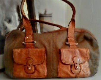 Vintage Tan Purse with Leather Details