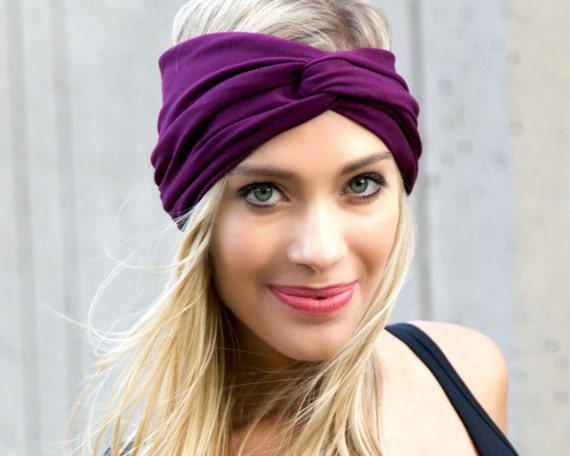Boho Chic Burgundy Turban Headband Women Ear Warmer Headwrap Hair Wrap Gift For Her Ear Muff Hair Band Turband Soft Headband Hijab Headscarf