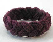 marsala red rope bracelet cotton turks head knot bracelet nautical sailor bracelet rope jewelry 3792