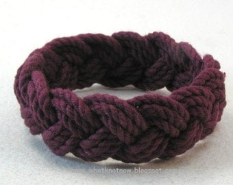 marsala red rope bracelet cotton turks head knot bracelet nautical sailor bracelet rope jewelry 3792