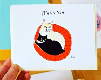 Thank You Card - Cat Bed - Thank You Cat Card