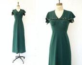 Vintage Maxi Dress Forest Green 70s Maxi Dress Boho Green Dress 70s Boho Maxi Dress 1970s Maxi Dress Green Maxi Dress Fall Maxi Dress Small