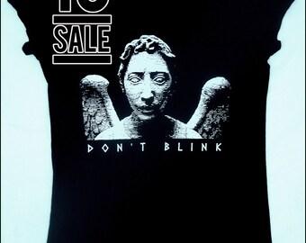 10 DOLLAR SALE-- Weeping Angel Womens Tshirt