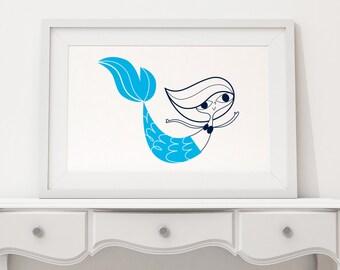 Mermaid Screen Print
