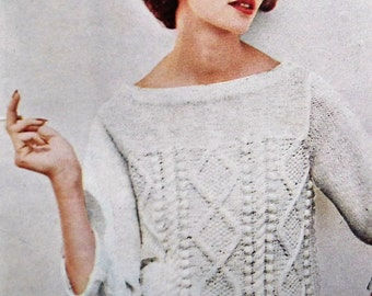 Vogue Knitting Book No 58 1961 vintage 1960s knitting patterns women's jumpers sweaters tops dresses cardigans jackets 60s original patterns