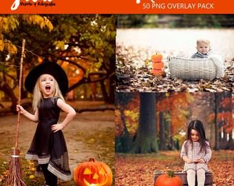 PUMPKIN PATCH Photoshop Overlays, halloween overlays, autumn overlay, pumpkin pngs, PNG files for photographers, Photoshop overlay