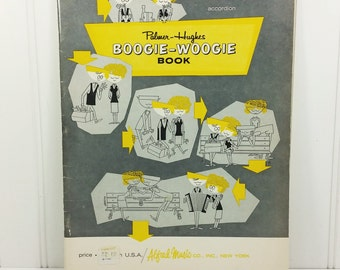 Boogie Woogie Book, 1961 Palmer-Hughes Accordion Music Book, Rockabilly Classics