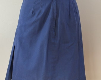 last chance Vintage SEARS blue pleated pencil SKIRT usa made