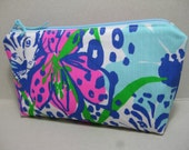 Lilly Pulitzer/Pencil Case/MakeUp Bag/Cosmetic Bag/Preppy/Sorority Gift (In the Garden)