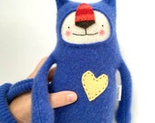 Cashmere Stuffed Animal Lanky Cat from Upcycled Sweater