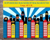 Superhero Party, Superhero Party Supplies, Superhero Birthday Party, Superhero Backdrop,INSTANT DOWNLOAD,Printable Backdrop,Superhero Poster