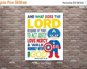 On Sale Micah 6:8, Seek Justice, Love Mercy, Walk Humbly, Boys Superhero Decor,Christian Bible Verse, INSTANT DOWNLOAD, Christian Superhero
