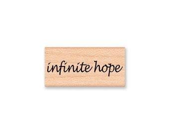 infinite hope~Rubber Stamp~Thinking of You~Cancer Survivor~Get Well~Strong~Autism Awareness~Special Needs~Wood Mounted Stamp (43-30)