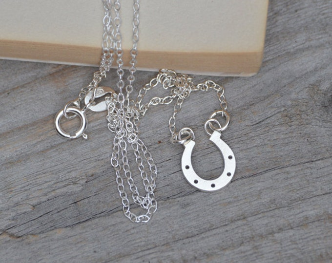 Horseshoe Necklace In Sterling Silver, Lucky Gift Handmade In The UK