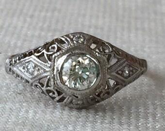 Vintage Edwardian Diamond Engagement Ring