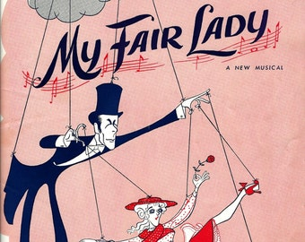 My Fair Lady w/Julie Andrews & Rex Harrison, 1957 Musical at Hellinger Theatre NY Program-Original and VG Condition