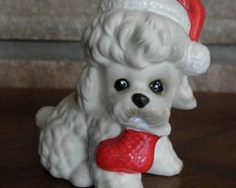 Josef Original Christmas Poodle Figurine