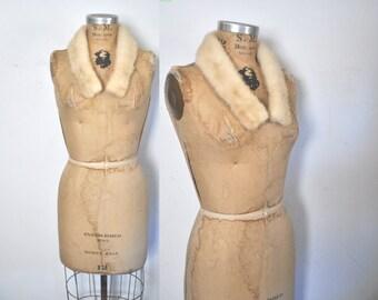 Small Blonde Mink Fur Collar / vintage